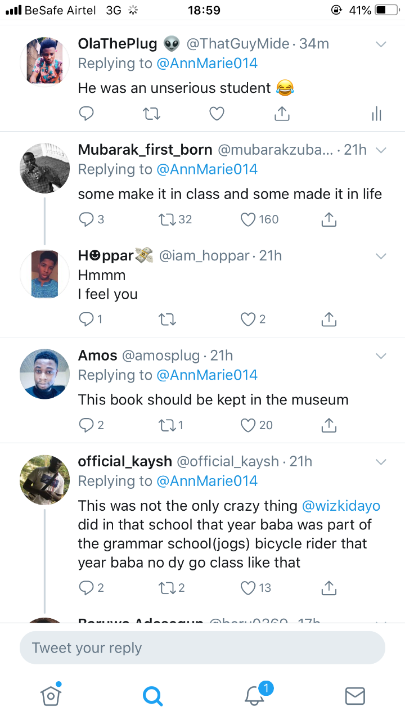 Fine Handwriting - Fans React To Wizkid's Note Book In JSS1 (Photo) 3
